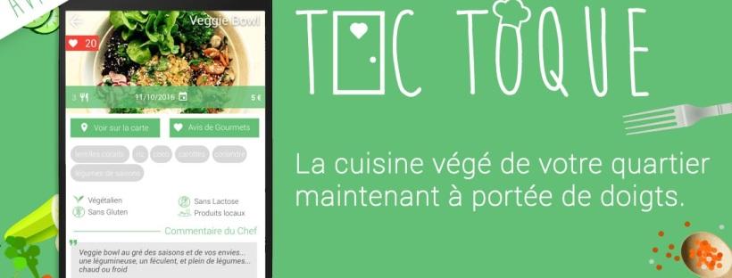 Lappli Toc Toque Ouvre La Vente De Plats Végétariens Faits - Appli cuisine